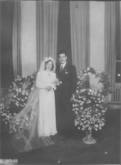 Fotoğraf (Nikah fotoğrafı, 13 Şubat 1944)
